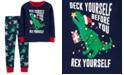 Carter's Toddler Boys 2-Pc. Cotton Holiday Dino Pajamas Set