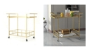 Noble House Camden Indoor Industrial Bar Cart