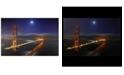 "Northlight LED Lighted Famous San Francisco Golden Gate Bridge Canvas Wall Art, 15.75"" x 23.5"""