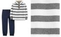 Carter's Toddler Boys 2-Pc. Striped Fleece Top & Jogger Pants Set