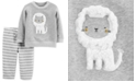 Carter's Baby Boys & Girls 2-Pc. Lion Sweatshirt & Jogger Pants French Terry Set