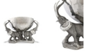 Vagabond House 3 Pewter Elephant Trio Stainless Punch, Ice Bowl