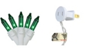 """Northlight Set of 100 Green Mini Christmas Lights 2.5"""" Spacing - White Wire"""
