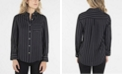 nanette Nanette Lepore Long Sleeve Striped Button Down with Single Breast Pocket