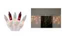 Northlight Set of 50 Red and Clear Mini Window Curtain Icicle Christmas Lights - White Wire