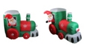 Northlight inflatable Santa on Locomotive Train Lighted Outdoor Christmas Decoration