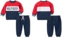 Tommy Hilfiger Baby Boys 2-Pc. Colorblocked Fleece Sweatshirt & Jogger Pants Set