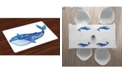 Ambesonne Whale Place Mats, Set of 4