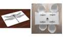 Ambesonne Dragonfly Place Mats, Set of 4