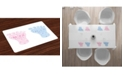 Ambesonne Gender Reveal Place Mats, Set of 4