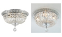 Worldwide Lighting Empire 4-Light Chrome Finish and Clear Crystal Flush Mount Ceiling Light