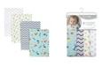 Trend Lab Dinosaur Swaddle Blanket 4-Pack