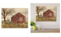 "Courtside Market Flag Barn 12"" x 16"" Wood Pallet Wall Art"