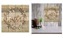 "Courtside Market Gather Cotton Wreath 12"" x 12"" Wood Pallet Wall Art"