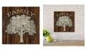 "Courtside Market Metal Family Tree 12"" x 12"" Wood Pallet Wall Art"