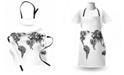Ambesonne Floral World Map Apron