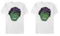 Fifth Sun Marvel Men's Retro Good Luck Hulk Big Face, Short Sleeve T-Shirt