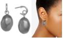 Laundry by Shelli Segal Silver-Tone Imitation Pearl Drop Earrings