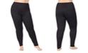 Cuddl Duds Plus Size Softwear Lace-Edge Leggings