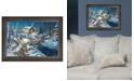 "Trendy Decor 4U Trendy Decor 4U Woodland Retreat By Jim Hansen, Printed Wall Art, Ready to hang, Brown Frame, 14"" x 11"""