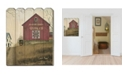 """Trendy Decor 4U Quilt Barn by Billy Jacobs, Printed Wall Art on a Wood Picket Fence, 16"""" x 20"""""""