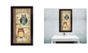"""Trendy Decor 4U Two Wise Owls By Annie LaPoint, Printed Wall Art, Ready to hang, Black Frame, 20"""" x 11"""""""