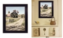 "Trendy Decor 4U Mail Pouch Barn by Lori Deiter, Ready to hang Framed Print, Black Frame, 14"" x 18"""