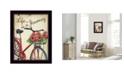 "Trendy Decor 4U Life is a Journey By Debbie DeWitt, Printed Wall Art, Ready to hang, Black Frame, 14"" x 18"""