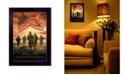 "Trendy Decor 4U Bless Americas Heroes By Bonnie Mohr, Printed Wall Art, Ready to hang, Black Frame, 14"" x 10"""