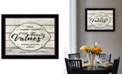 """Trendy Decor 4U Our Family Values by Cindy Jacobs, Ready to hang Framed Print, Black Frame, 18"""" x 14"""""""
