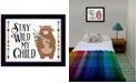 "Trendy Decor 4U Stay Wild My Child By Susan Boyer, Printed Wall Art, Ready to hang, Black Frame, 14"" x 18"""