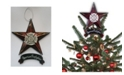 """Trendy Decor 4U American Firefighter Star Ornament 6-pack by Trendy Décor 4U, Ready to hang, 5"""" x 6"""""""