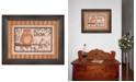 "Trendy Decor 4U Trendy Decor 4U Dream By Mary June, Printed Wall Art, Ready to hang, Brown Frame, 19"" x 15"""