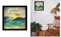 "Trendy Decor 4U Sunshine and Lake Water By Marla Rae, Printed Wall Art, Ready to hang, Black Frame, 14"" x 14"""