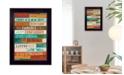 "Trendy Decor 4U A New Day By Marla Rae, Printed Wall Art, Ready to hang, Black Frame, 14"" x 10"""