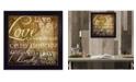 "Trendy Decor 4U Live Simply By Marla Rae, Printed Wall Art, Ready to hang, Black Frame, 14"" x 14"""