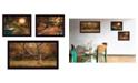 "Trendy Decor 4U Tranquil Spaces 3-Piece Vignette by Robin-Lee Vieira, Black Frame, 32"" x 18"""