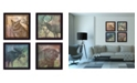 """Trendy Decor 4U Wildlife Collection Collection By Barb Tourtillotte, Printed Wall Art, Ready to hang, Black Frame, 56"""" x 14"""""""