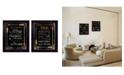 "Trendy Decor 4U Trendy Decor 4U Arrows II Collection By Marla Rae, Printed Wall Art, Ready to hang, Black Frame, 40"" x 26"""