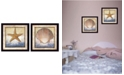 """Trendy Decor 4U Sea Journey Collection By Ed Wargo, Printed Wall Art, Ready to hang, Black Frame, 28"""" x 14"""""""