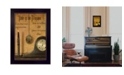 """Trendy Decor 4U Time is the Illusion By Billy Jacobs, Printed Wall Art, Ready to hang, Black Frame, 14"""" x 10"""""""