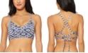Jessica Simpson Venice Beach Printed Strappy-Back Bikini Top