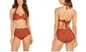 Calvin Klein Pleated Convertible Underwire Bikini Top & Pleated High-Waist Swim Bottoms