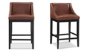 Dwell Home Inc. Oxford Swoop Back Upholstered Bar Stool