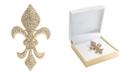 Charter Club Gold-Tone Pavé Fleur-De-Lis Pin, Created for Macy's