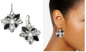 Charter Club Silver-Tone Crystal, Stone & Imitation Pearl Cluster Drop Earrings, Created for Macy's