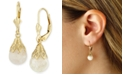 Macy's Floating Crushed Opal (1 ct. t.w.) Drop Earring in 14k Yellow Gold