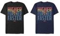 Marvel Men's Captain Marvel Higher Further Faster Quote, Short Sleeve T-shirt