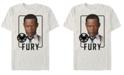 Marvel Men's Captain Marvel Nick Fury Id Portrait, Short Sleeve T-shirt