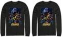 Marvel Men's Avengers Infinity War Big Face Thanos Poster, Long Sleeve T-shirt